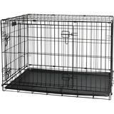 Canil Gaiola Desmontável Aço Inox P/ Cães Gatos 122x76x84cm