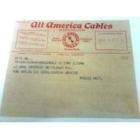 Telegrama Via Cabo Submarino All America Cables Ano 1935