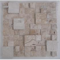Mosaico De Mármore Branco/mármore Travertino Bege Bahia-tela