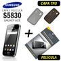 Capa Tpu + Película Samsung Galaxy Ace S5830 + Frete Grátis