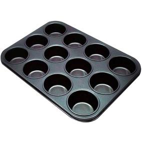Forma De Cupcake 12 Cavidades Teflon Antiaderente...
