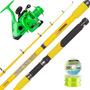 Equipo Pesca Waterdog Caña Pack Rod 1.95 + Reel Tico 2001