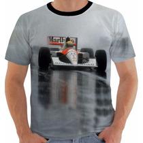 Camiseta Ou Baby Look Ou Regata Ayrton Senna 6 Maclaren Cor