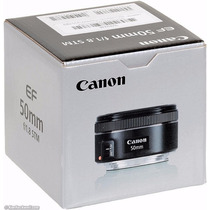 Canon Ef 50mm F/1.8 Super Luminoso Nuevo Entrega Inmediata!