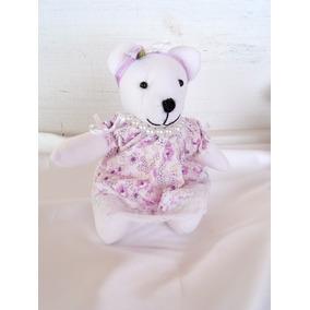 Ursinha Lilás Vestido Decoração De Quarto De Bebê Infantil