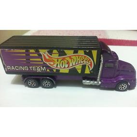 Carrinhos Hotwheels Caminhão Racing Team 1996 Mattel Roxo