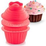 Molde Silicon 3 Piezas, P/tortas Gelatinas En Forma Cupcake