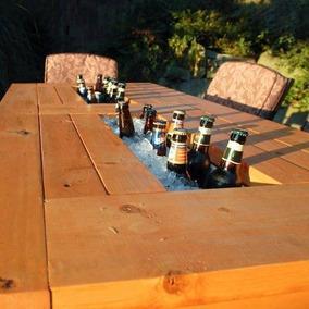 Mesa Cooler Madeira De Demolição (sp)