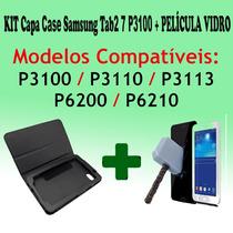 Kit Película Vidro + Capa Case Tablet P3100 Frete Grátis