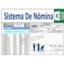 Nomina En Excel, Recibo De Pago Semanal, Quincenal, Mensual