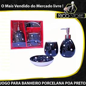 Jogo Banheiro 3 Pçs Conjunto Profissional Porcelana Cerâmica