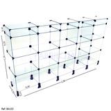 Balcão Em Vidro Loja Multiuso Porta Joia 2,00 X 1,10 X 0,30
