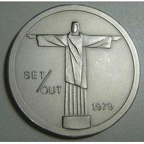 Cristo Redentor-18º Congresso Upu-rio-1979-prata 40 Mm-35gr
