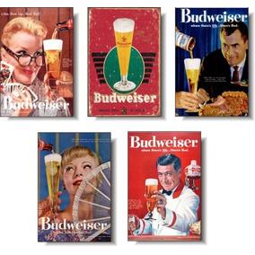 Budweiser - Kit Com 05 Imãs De Geladeira