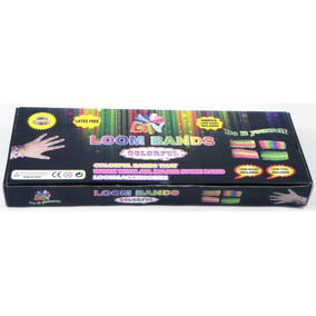 Kit Loom Bands Colorful ,telar Gancho 600 Ligas Manual