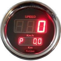 Velocimetro Digital Com Odometro Parcial 85mm Guster