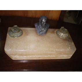 Tinteiro De Mesa - Alabastro - Escultura