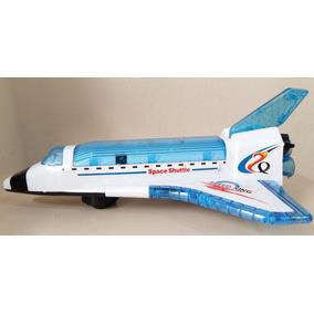 Nave Espacial Shuttle Super Power Transporte Som Luz