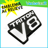 Emblema Camion Ford Triton V8 Autoadhesivo Extrafuerte