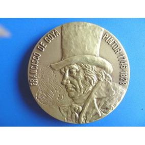 Goia-grande Medalha Bronze-.la Maja Desnuda-nova-70 Mm.