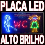 Placa Led Letreiro Painel Luminoso P/ Sinalização Comercial