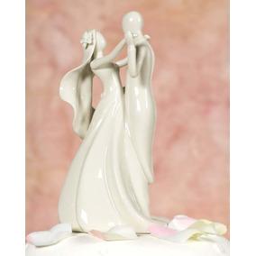 Topo De Bolo Importado - Porcelana - Casamento - Noivinhos