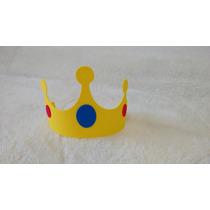 Corona Rey O Príncipe Souvenir Infantil Goma Eva X 10