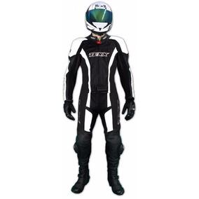 Macacão Motociclista Texx Ghost 2 Peças 100% Couro Bovino
