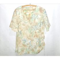 Blusa De Creppe Para Señora Talle 4 - Excelente
