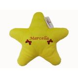 Almofada Estrela Grande De Pelúcia Seu Nome Personalizado