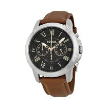 Relógio Masculino Fossil Grant Fs4813/0pn Pulseira De Couro
