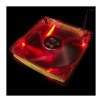 Cooler Fan Akasa Crystal C/ 4 Led´s - Vermelho 8x8 Cm