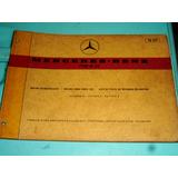 Catálogo De Peças Mercedes-benz Motor M117 1972 Original
