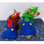 Disfraz Mario Y Luigi Para Perros Y Gatos/ Talle M