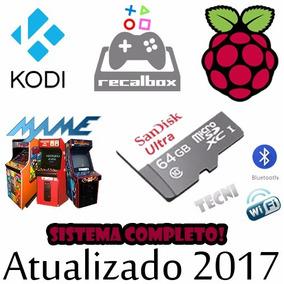 Cartão Micro Sd 64gb Recalbox + Kodi P Raspberry Pi3 + Jogos