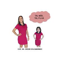 Kit 02 Un Tal Mae Tal Filha Vestido Polo Roupas Femininas