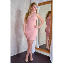Vestido Para Mujer Con Escote En V Rosa