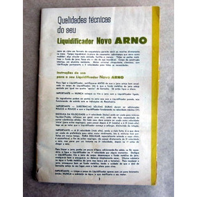 Catálogo Eletrodomésticos Arno - Década De 60