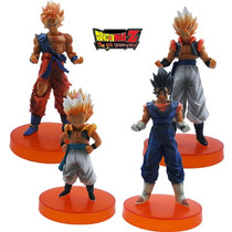 4 Bonecos Dragon Ball - Action Figures Goku 10cm - 12cm