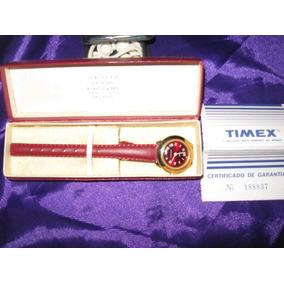 Antigo Relógio Timex Vermelho Anos 70