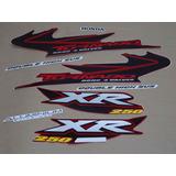 Kit Adesivos Honda Xr 250 Tornado 2004 Vermelha 00886