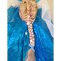 Disfraz Elsa Frozen Incluye Peluca Y Capa De Hielo!!