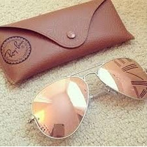 Óculos Ray Ban Aviador Rose
