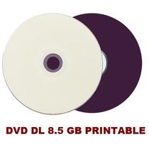 50 Dvd+r Dl Dual Layer 8.5 Gb Printable Umedisc Jogos Xbox