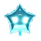 14 Balão Metalizado Estrela 48cm Azul Bebê