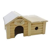 Pequeña Casa Animal Con Anexo Para Hamster, Rata, Ratón