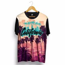 Blusa California Estados Unidos Estampada Verão Swag Preta