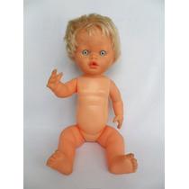 Antiga Boneca Bebê Toda De Borracha Marca Cotiplás