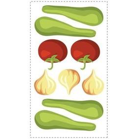 Adesivo Grande Parede Cartela Nº 2 Vegetais Garden Fresh