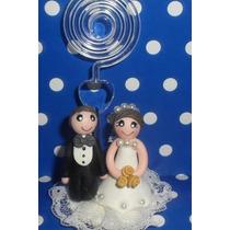 30 Lembrancinha De Casamento Noivinhos Em Biscuit Com Spiral